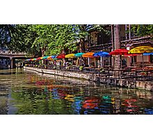 Riverwalk Reflections - San Antonio Texas USA Photographic Print