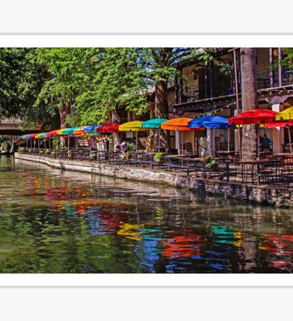 Riverwalk Reflections - San Antonio Texas USA Sticker