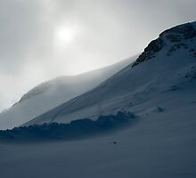Moody Summit of Grande Motte, Tignes by Clayton Suares