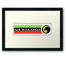 Air Wakanda- Logo Framed Print