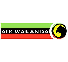 Air Wakanda- Logo Photographic Print