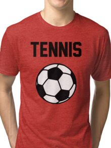 Tennis - Black Tri-blend T-Shirt