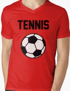 Tennis - Black Mens V-Neck T-Shirt
