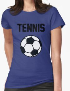 Tennis - Black Womens Fitted T-Shirt