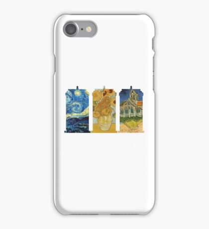 Vincent and The Doctor (White) iPhone Case/Skin