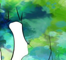 woodland cartoon inspired splatter watercolor Sticker