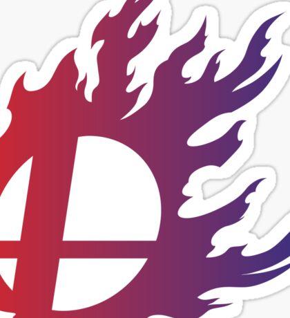Super Smash Bros. Flame Sticker