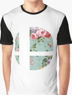 Super Smash Bros. Floral Graphic T-Shirt