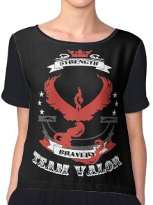 Team Valor Pokemon Go  Chiffon Top