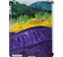 Lavender Fields Colorful Countryside Purple Flowers Acrylic Painting iPad Case/Skin