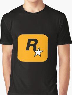 GTA Rockstar Games Logo  Graphic T-Shirt