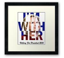 Hillary Clinton For President 2016 Framed Print