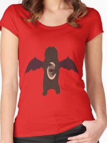 Demonic Bears Attack  Women's Fitted Scoop T-Shirt