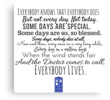 Doctor Who River Song Quote Canvas Print