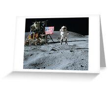 Commander John Young Jumps & Salutes the Flag Greeting Card