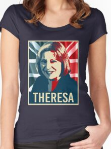 Theresa May Poster Women's Fitted Scoop T-Shirt