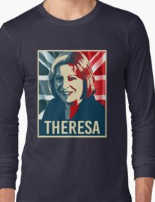 Theresa May Poster Long Sleeve T-Shirt