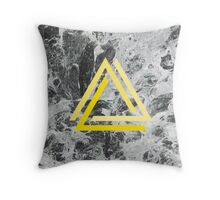 Marble & Triangle Throw Pillow