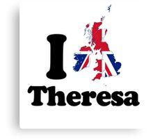 I Love Theresa May Canvas Print