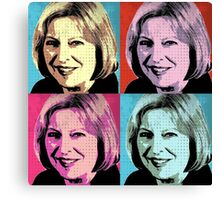 Theresa May Pop Art Canvas Print