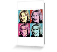 Theresa May Pop Art Greeting Card