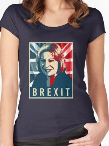 Theresa May Brexit Women's Fitted Scoop T-Shirt