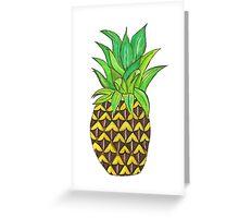 Perky Pineapple  Greeting Card