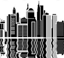 Boston - Skyline City Skyscrapers T Shirt  Sticker