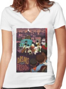 Dreams Of Freedom .. Watch Live Music Women's Fitted V-Neck T-Shirt