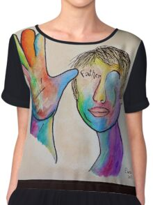 American Sign Language FATHER Chiffon Top