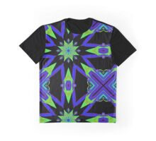Bold design with indigo and lime Graphic T-Shirt