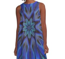 Iridescent Abalone Mother of Pearl Shell Kaleidoscope A-Line Dress