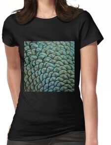 Beautiful Elegant Peacock Feathers Womens Fitted T-Shirt