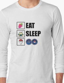 Eat, Sleep, GO - Pokemon GO Long Sleeve T-Shirt