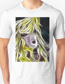 The Blonde Girl with Dishevelled Hair Unisex T-Shirt