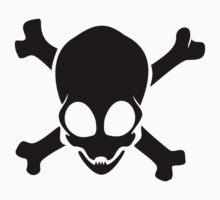 Alien Crossbones -Black Version Baby Tee