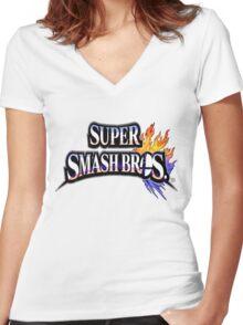 Super Smash Bros Shirt Women's Fitted V-Neck T-Shirt