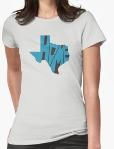 Texas HOME state design Womens Fitted T-Shirt