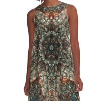 Colorful Stained Glass Window Kaleidoscope  A-Line Dress
