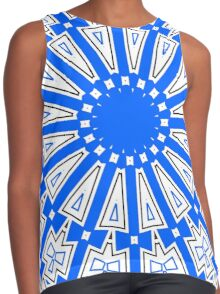 Summer Blue Circle and Bows Contrast Tank