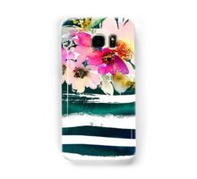 Floral stripes Samsung Galaxy Case/Skin