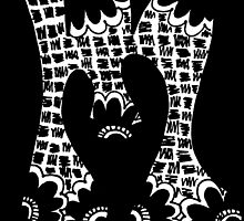 "Hipster Letter ""M"" Zentangle by alexavec"