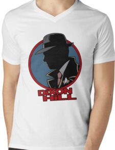 Dixon Hill is on the case Mens V-Neck T-Shirt