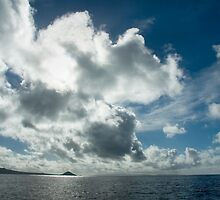 Afternoon Clouds over Taveuni Island Fiji by Julia  Hiebaum