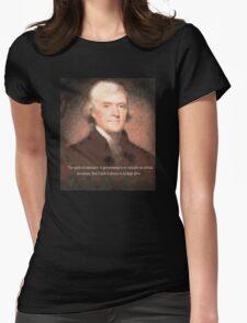 thomas jefferson Womens Fitted T-Shirt