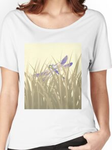 Dragonfly In Tall Grass Women's Relaxed Fit T-Shirt