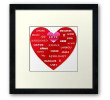world love Framed Print