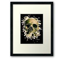 Rotten Skull – greenish Framed Print