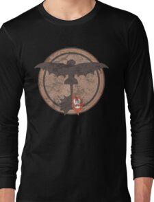 Distressed Night Fury Silhouette  Long Sleeve T-Shirt