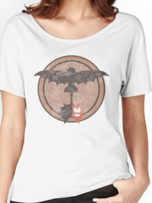 Distressed Night Fury Silhouette  Women's Relaxed Fit T-Shirt